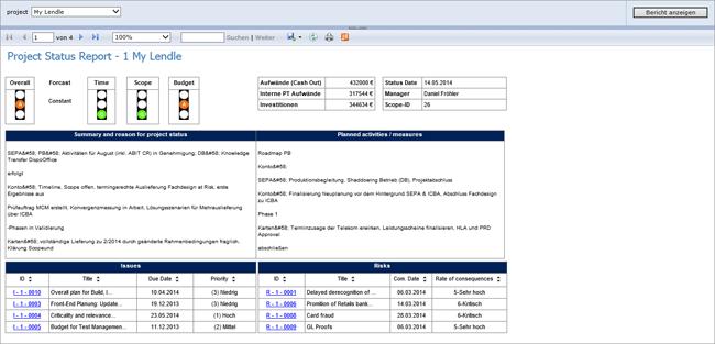 PCT Projekt Statusbericht 1