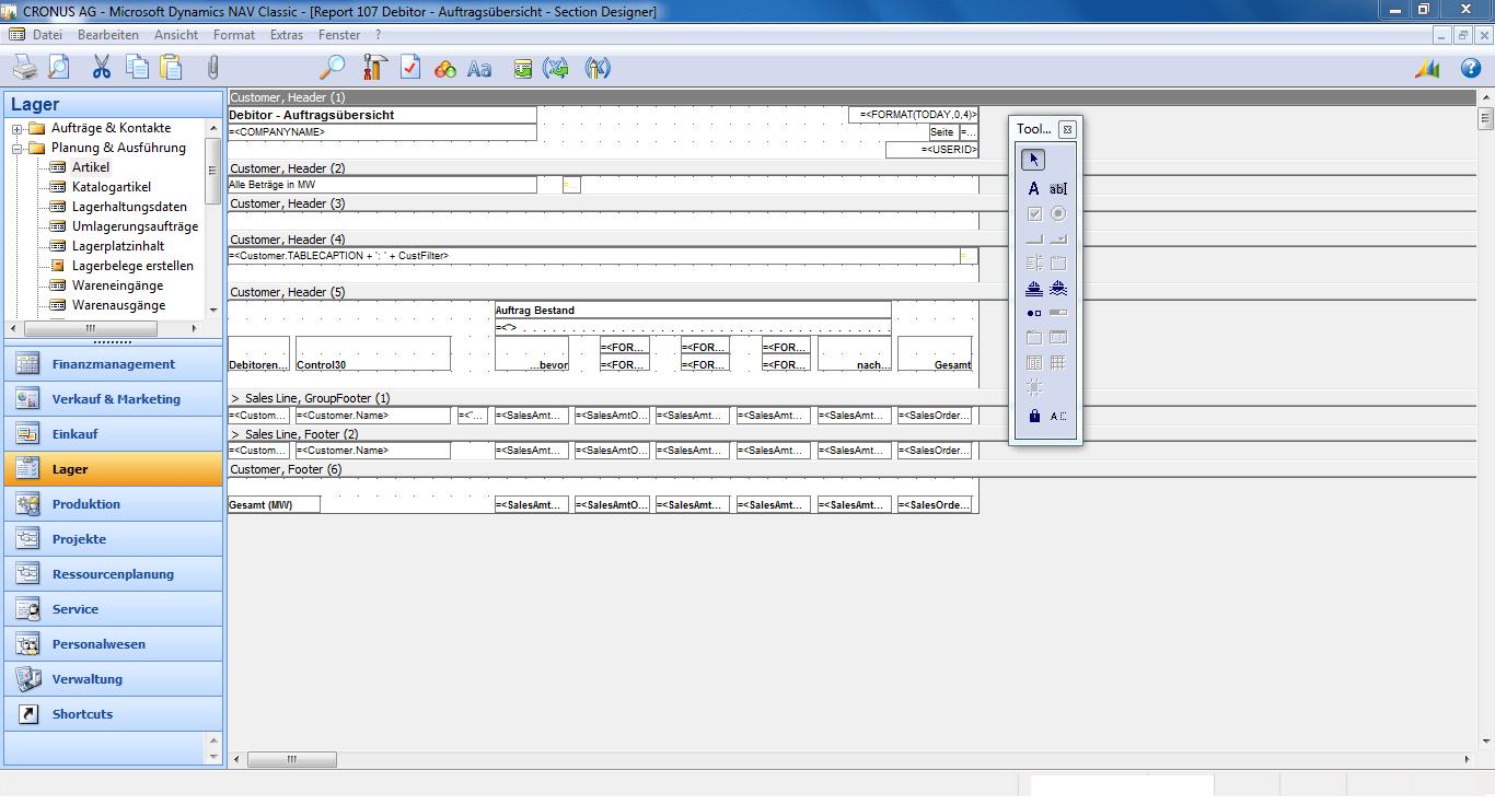 nav report designer