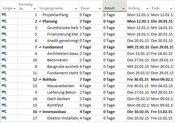 Nummerierung von Vorgängen 3