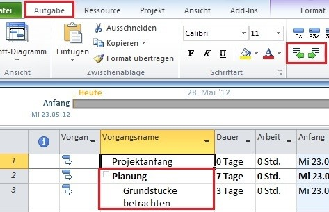 Projektplan mit MS Project (3)