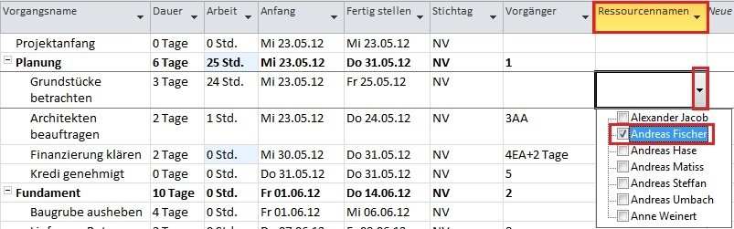 Projektplan mit MS Project (7)