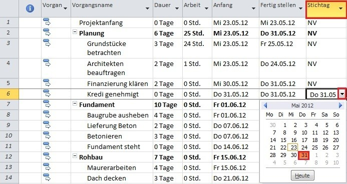 Projektplan mit MS Project (8)