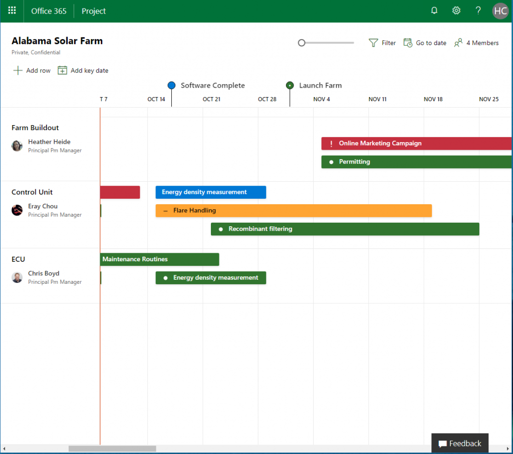 Microsoft Project Roadmap