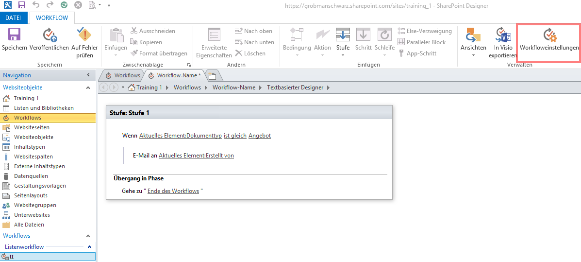 SharePoint Workflow in 10 Schritten - Bild 3