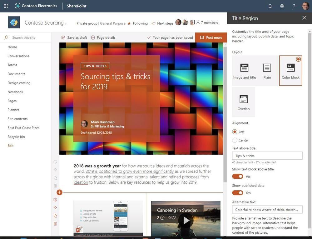 Microsoft SharePoint Roadmap 2019 - Bild 3